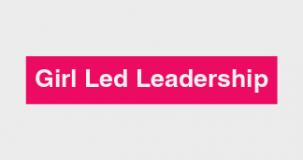 girl led leadership banner