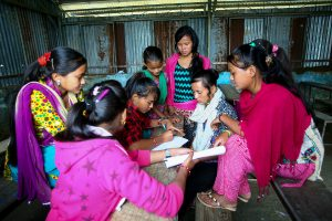 Member of Girl Support Committee discuss their problem on the group during the workshop in Jaldevi Secondary School at Hagam VDC in Sindhupalchok. Photo: Uma Bista/Stars foundation